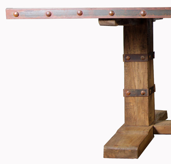 Industrial Dining Table Detail