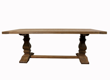 Salvage Wood Trestle Dining Table