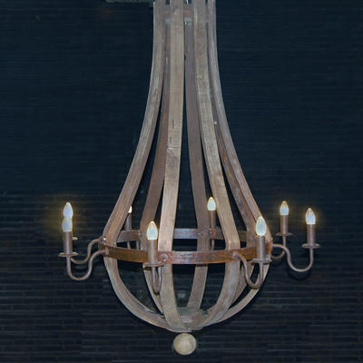 Wine barrel Chandelier 8 Arm